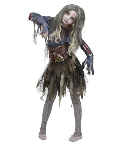 Zombie Girls Halloween Costume, Medium (8-10)