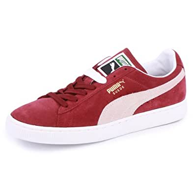 Puma Suede Classic 352634 75 Unisex Laced Suede Trainers Maroon - 4