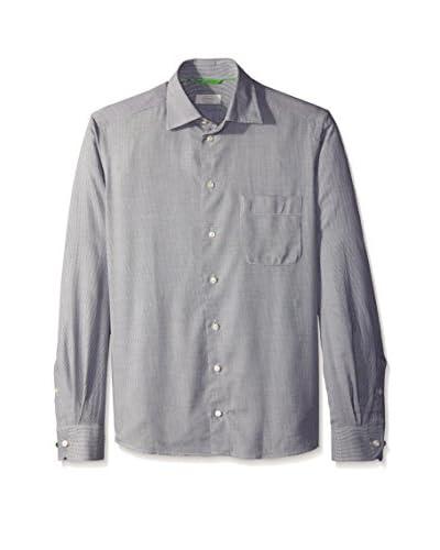 Eton Men's Contemporary Fit Flannel Herringbone Sportshirt