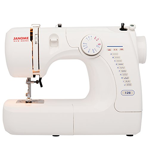 Janome Refurbished Basic Easy-to-Use 128 Sewing Machine with Bonus Quarter Inch Seam Foot (Refurbished Janome compare prices)