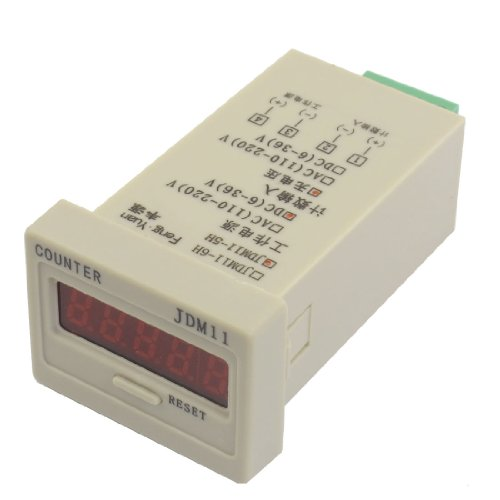 Jdm11-5H Resettable 5 Digits Led Display Panel Digital Counter Dc 24V
