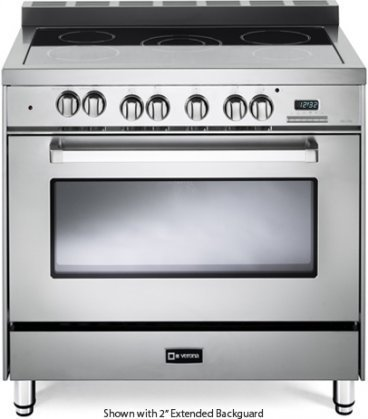 """Verona VEFSEE365SS 36"""" Electric Range with 4 cu. ft. Europea"""