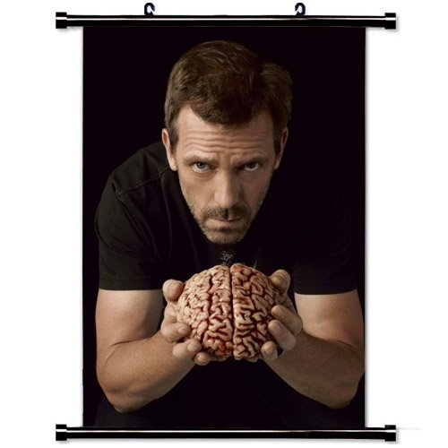 dr-house-hugh-laurie-brain-hands-stoff-hangende-poster-with-grosse-236-x-354inch-equal60cm-x-90cm