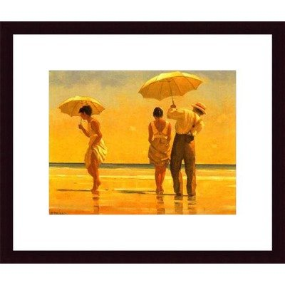 Mad Dogs by Jack Vettriano Wood Framed Art Print Matte Color: Black, Frame Color: Beaded Gold