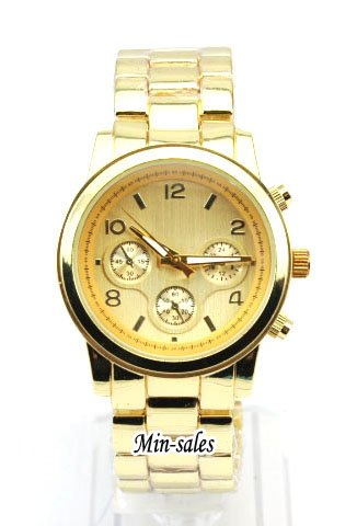 Designer Style Ladies Womens Round Bracelet Fashion Watch Gold. Presented in a FREE Luxury Gift Pouch. 8 Variations available from 2 models.