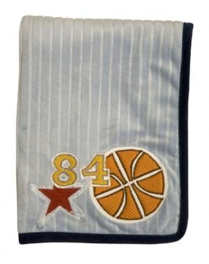Lambs & Ivy Playoffs Ribbed Velour Blanket