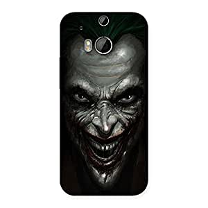 Luxirious Mad face Multicolor Back Case Cover for HTC One M8