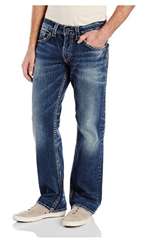 Silver Jeans Men's Zac Relaxed-Fit Straight-Leg Jean 2017 autumn puppy jean new fashioned classic jeans water soluble lace women s fashion jeans large size jeans nw17c1199