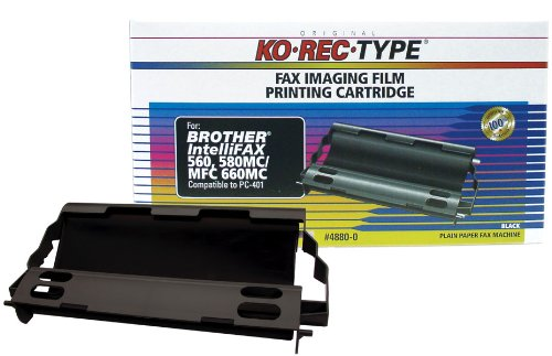 Ko-Rec-Type 4880-0 Fax Imaging Film Ribbon for Brother PC401 Cartridge