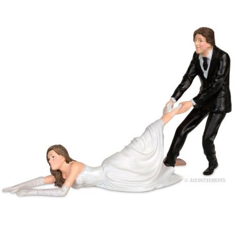 Accoutrements Reluctant Bride Cake Topper