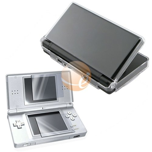 Clear Crystal Case for Nintendo NDS DS Lite + Screen Protector