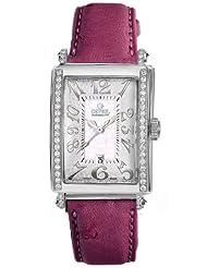 Gevril Women's 7249NE.14E White Mother-of-Pearl Genuine Ostrich Strap Watch