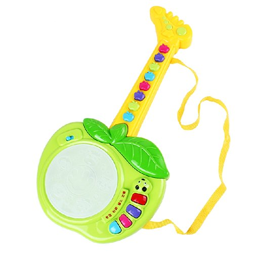 Kids Child Early Learning Education Musical Instruments Apple Shape Guitar Toys Green