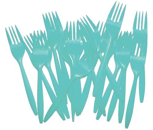 Light Blue Plastic Forks (48) (Light Blue Plastic Forks compare prices)