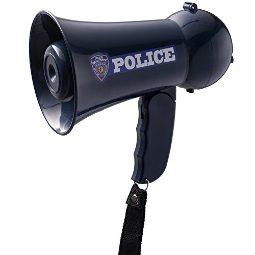 Best Prices! Pretend Play Kids Police Officer's Megaphone (Bullhorn) with Siren Sound. Handheld Mic ...
