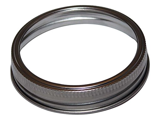 Stainless Steel Rust Resistant Bands / Rings for Mason, Ball, Canning Jars (5 Pack, Wide Mouth)