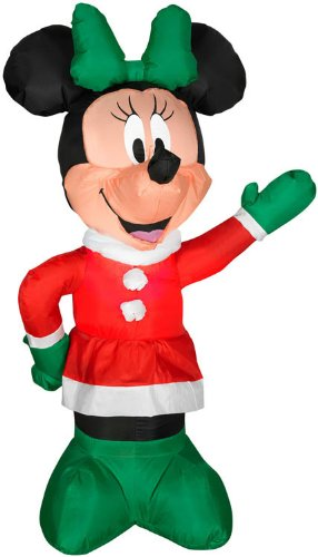 Gemmy Airblown Minnie In Winter Outfit 4' front-988959
