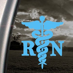 CADUCEUS-MEDICAL-CROSS-Registered-Nurse-RN-55-color-LIGHT-BLUE-Vinyl-Decal-Window-Sticker-for-Cars-Trucks-Windows-Walls-Laptops-and-other-stuff
