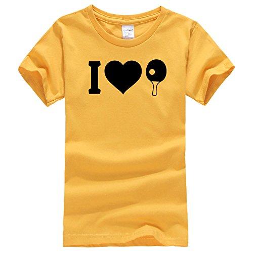Like table tennis Dealong boys featured cartoon T shirt x-large golden capdase