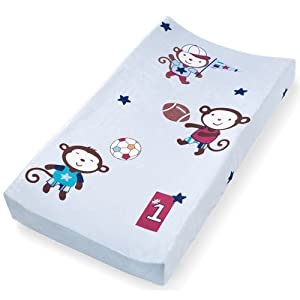 Summer Infant Infant Character Change Pad Cover, Team Monkey