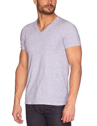 Eminence - Iconique - T-Shirt - Uni - Homme - Gris (Gris Chine) - FR : Small (Taille fabricant : 2)