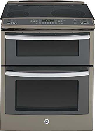 electric slide in smoothtop double oven range convection appliances