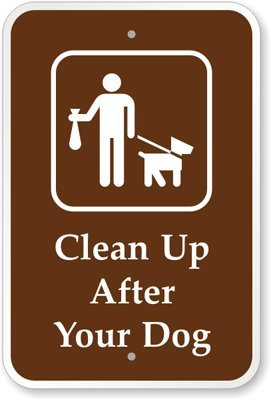 """Clean Up After Your Pet (With Graphic) Sign, 18"""" X 12"""" front-972736"""