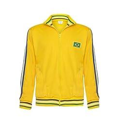 Jlsport Yellow Capoeira Zipped Jacket Brasil Tracksuit Jumper Man Top Long Sleeve