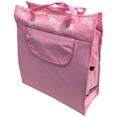 Bike (Fahrrad-) Shopper Bag Pannier 2-In-1 Pink