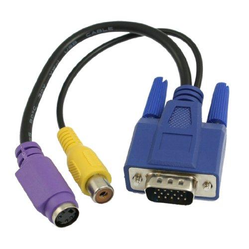 PC 15 pin Stecker VGA auf TV S-Video/AV Ausgang Cinch Buchse Verbindungskabel