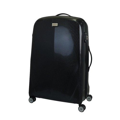 【 President 】スーツケース キズに強いダイアモンドエンボス加工 TSAロック搭載  【CONWOOD PT047ファスナー】3年保証 2COLOR 3サイズ【大型、中型、小型】 (3.小型 Sサイズ 29リットル, ブラック)
