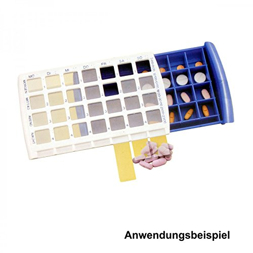 Pillenbox für 7 Tage weiss/blau