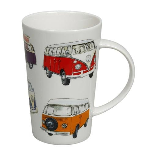 CAMPER VAN MUG - Giftboxed Bone China Tall Latte Mug An Ideal Gift For Any Campervan Enthusiast