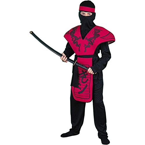 Red Dragon Ninja Warrior Kids Costume