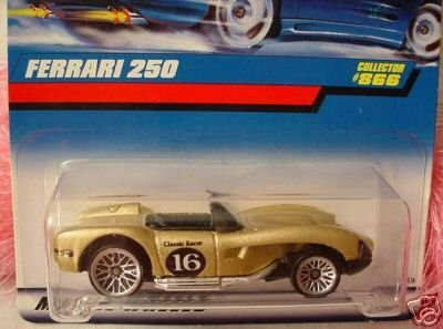Mattel Hot Wheels 1998 1:64 Scale Gold Ferrari 250 Die Cast Car Collector #866