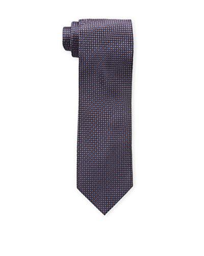 Bruno Piattelli Men's Classic Micro Neat Tie, Rust