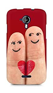 Amez designer printed 3d premium high quality back case cover for Micromax Canvas Magnus A117 (Heart fingers cool)