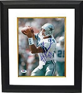 Jay Novacek signed Dallas Cowboys 8x10 Photo Custom Framed- PSA Hologram by Athlon Sports Collectibles