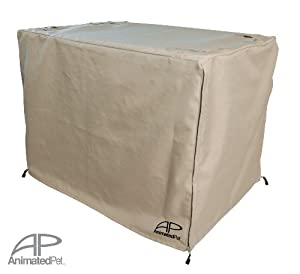 """AP Crate Cover 36"""" Fits Midwest Life Stages® 2 Door 1600DD crates 36"""" X 24"""" X 27"""" - Sand-Beige Color"""