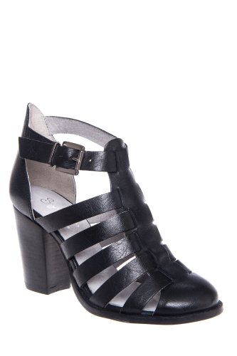 In The Sky High Heel Caged Bootie