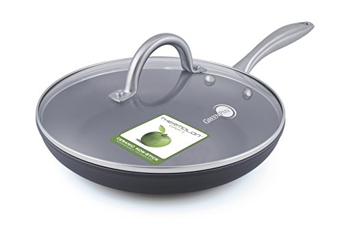 GreenPan Lima 12 Inch Ceramic Non-Stick Covered Fry Pan (Ceramic Nonstick Fry Pan compare prices)