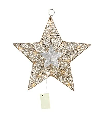 Decoracion Navideña Colgante decorativo LED Navidad Estrella 20 Luces