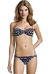 Bcbgmaxazria Women's Stretch Nylon Ruched Side Hipster Bikini Bottom