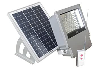 108 LED Solar Powered Wall Mount Flood Light with Remote