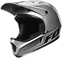 Fox Rampage Cycling Helmet, Metallic Silver, Small