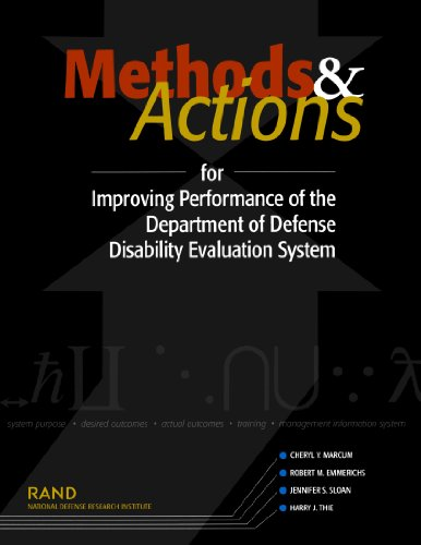 Methods and Actions for Improving Performance of the Department of Defense Disability Evaluation System 2002