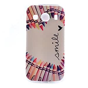 GENERIC Love Pen Pattern TPU Phone Case for Samsung Galaxy J1 #04068889