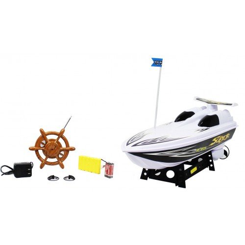 MX White Lightning Top Speed Super Power Electric RTR RC Boat Remote Control