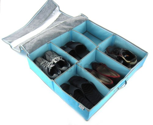 Range chaussures Periea pour dessous de lit 3 à 12 paires - boîte résistante -Sami-