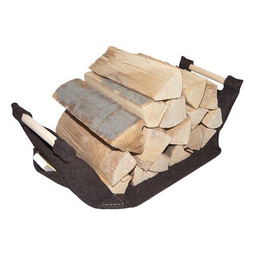 Holzkorb, Holzlege aus Filz von ebos